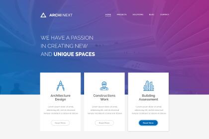 Archi Next Website Free PSD