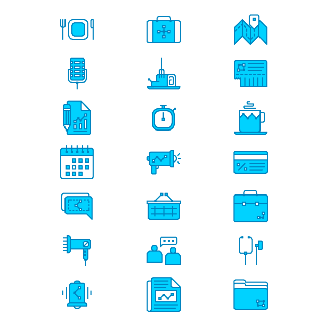 Free 26 Essential Flat Icons