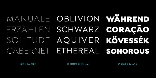 Isidora Light Free Typeface
