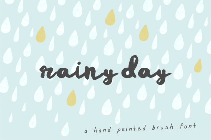 Rainy Day Brush Free Font