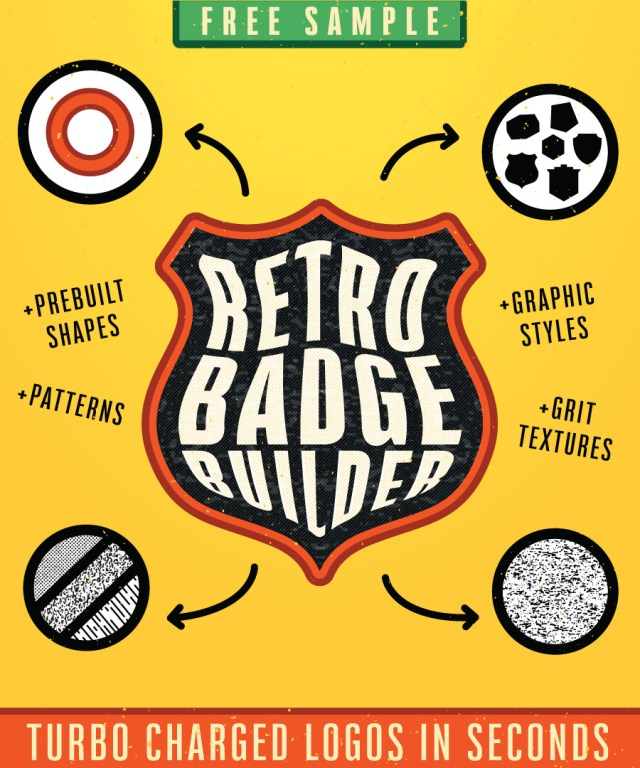Retro Badge Builder Free Sample