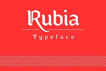 Rubia Gothic Free Typeface
