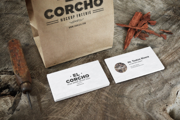 Crafted Business Card Mockup