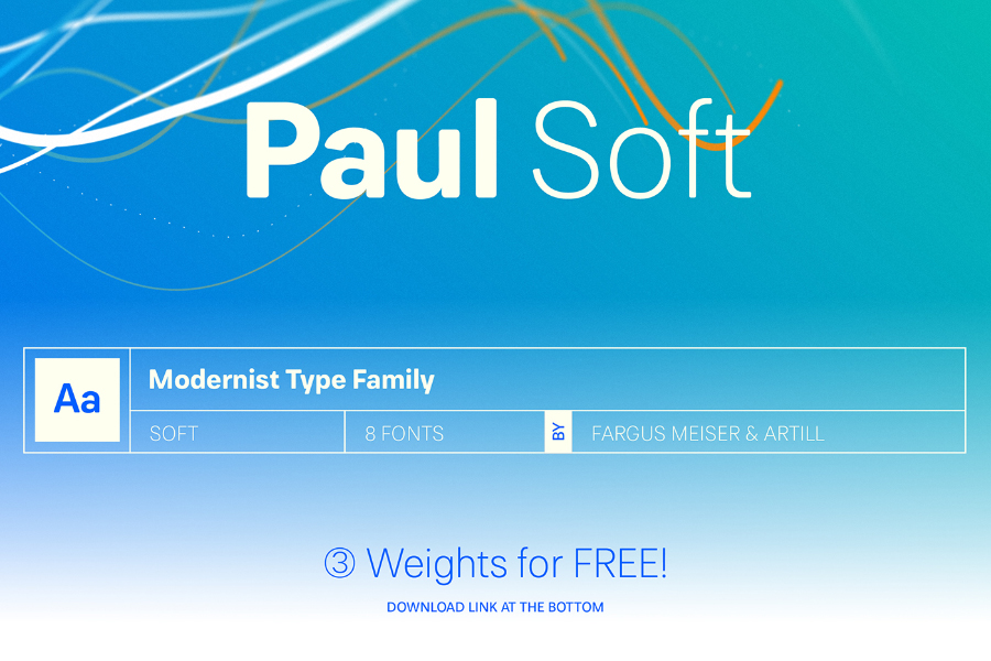Paul Soft Free Typeface Free Demo