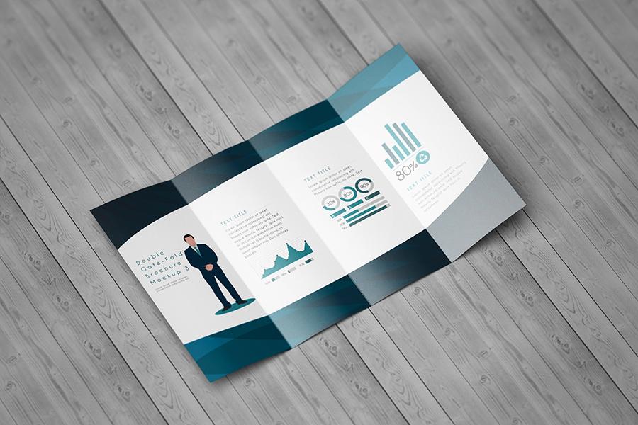 Amazing Double GateFold Brochure Mockup