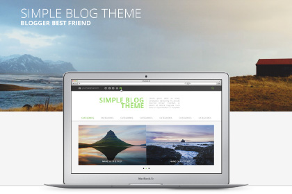 Simple Blog Theme Free PSD