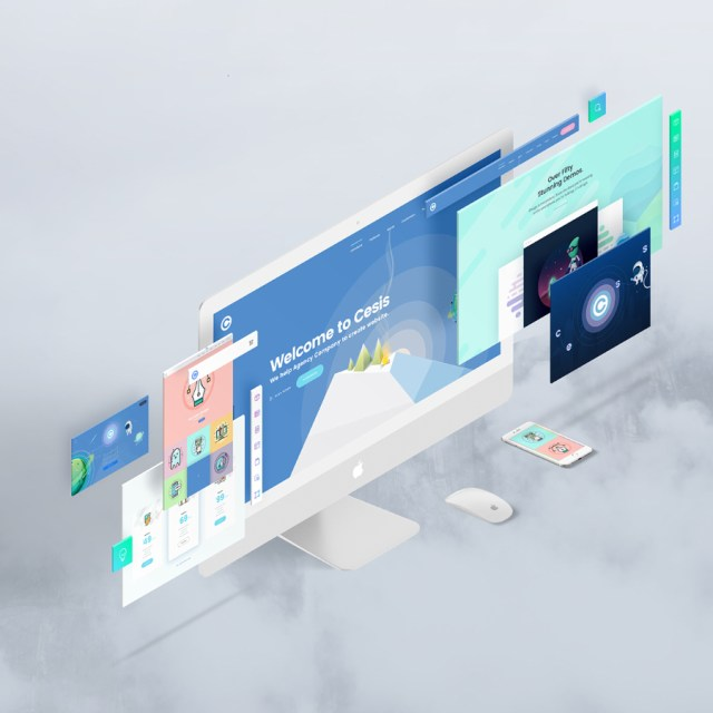 The Screen Free Perspective Psd Mockup Free Design Resources