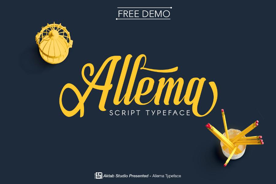 Allema Script Free Demo