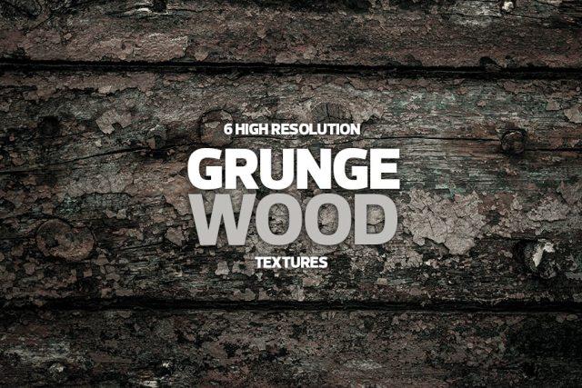 6 Grunge Wood Textures