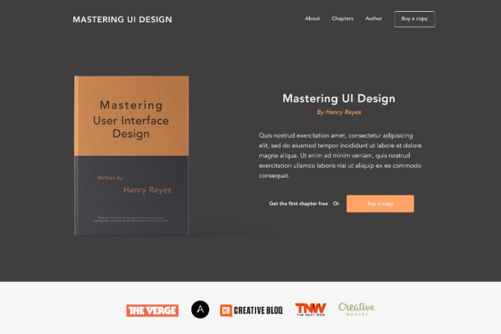 Mastering eBook Landing Page