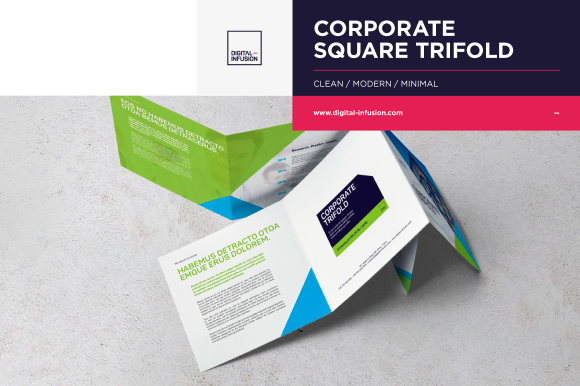 free corporate square trifold free design resources