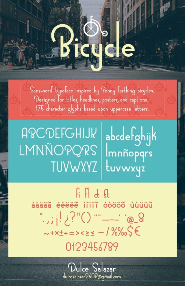 Bicycle Sans Free Typeface