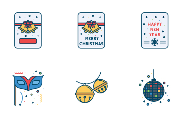 Free New Year Celebration Icons