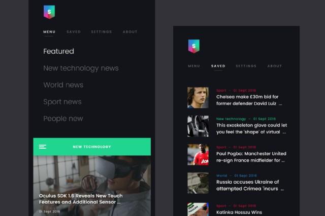 SimpleNews Free Mobile UI Kit