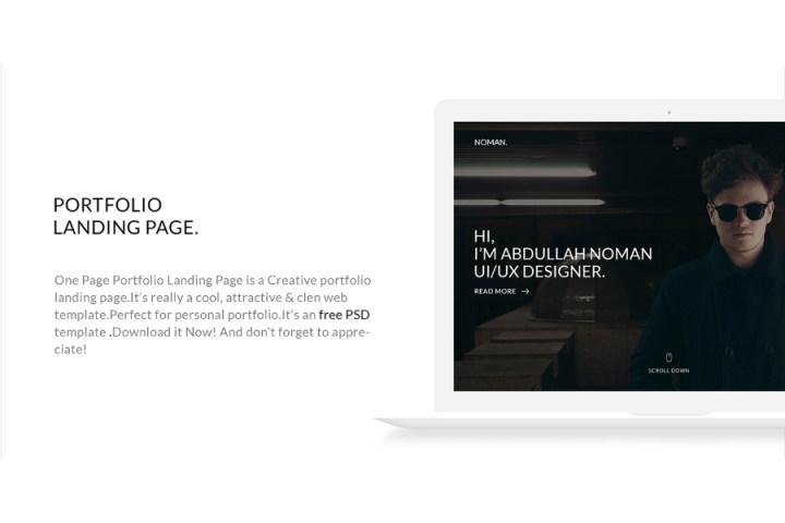 Free PSD Portfolio Landing Page