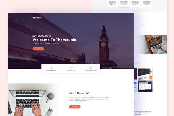 Themeunix Free PSD Template