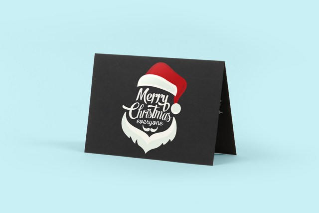 Free Black Greeting Card Mockup