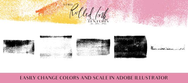 Roll Ink Vector Textures Free Demo