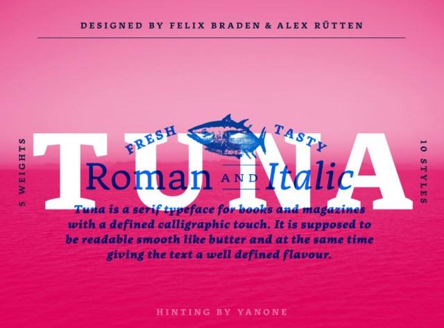 Tuna Typeface Free Demo Version