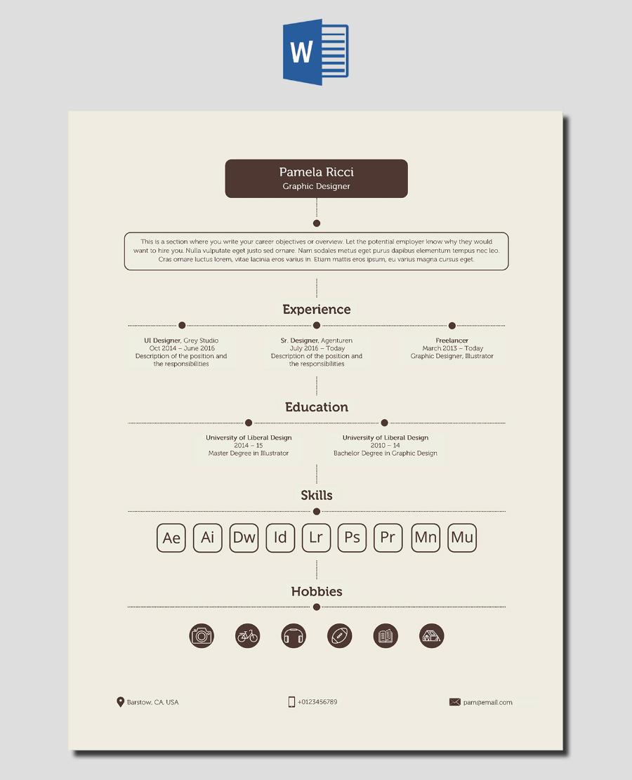 creative resume docx sample resume service creative resume docx 30 best resume templates psd ai word docx shade brown