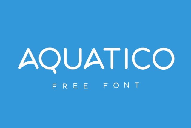 Aquatico Free Animated Typeface