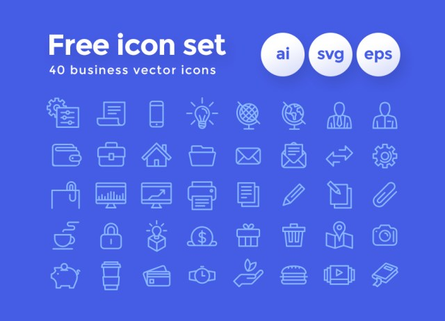 40 Business Vector Icon Pack
