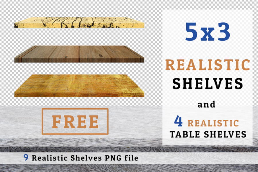 Free 9 PNG Realistic Shelves