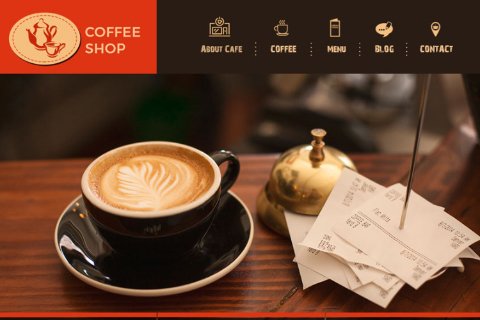 Coffee Shop Free PSD Template