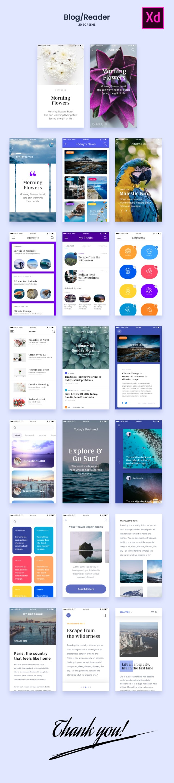 20 Adobe Xd Blog Screens
