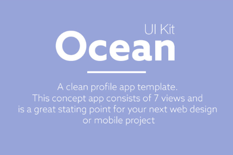 Ocean Free Mobile Apps UI Kit