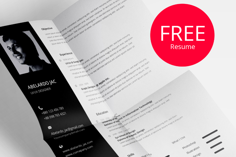Classy PSD Resume Template Free Design Resources