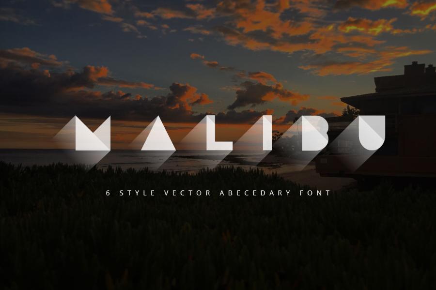 Malibu Vector Abecedary Typeface