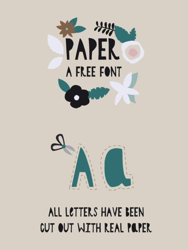Paper Cutout Free Typface