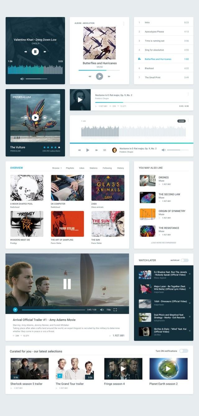 Visage Free Photoshop UI Kit