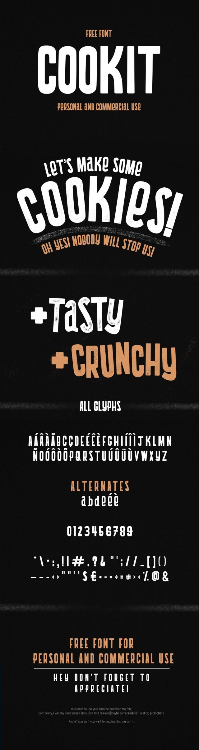 Cookit Display Free Typeface