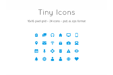 24 Free Vector Tiny Icons