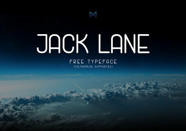 Jack Lane Display Free Typeface