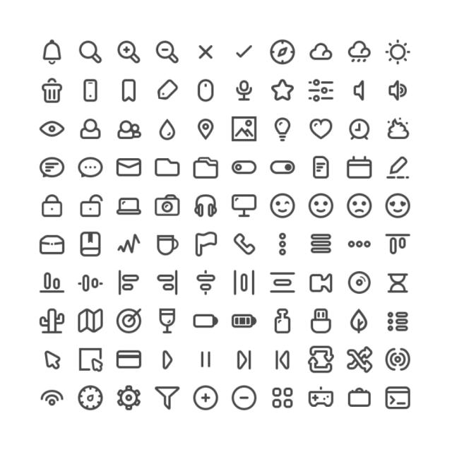 100 Free Minimal Line Icons