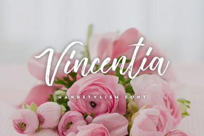 Vincentia Script Free Demo