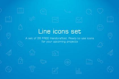 Free Social Media Linear Icons