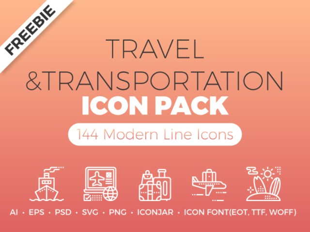 Free Travel Transportation Icons