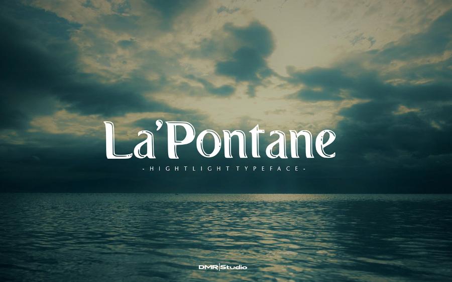 LaPontane Display Free Typeface
