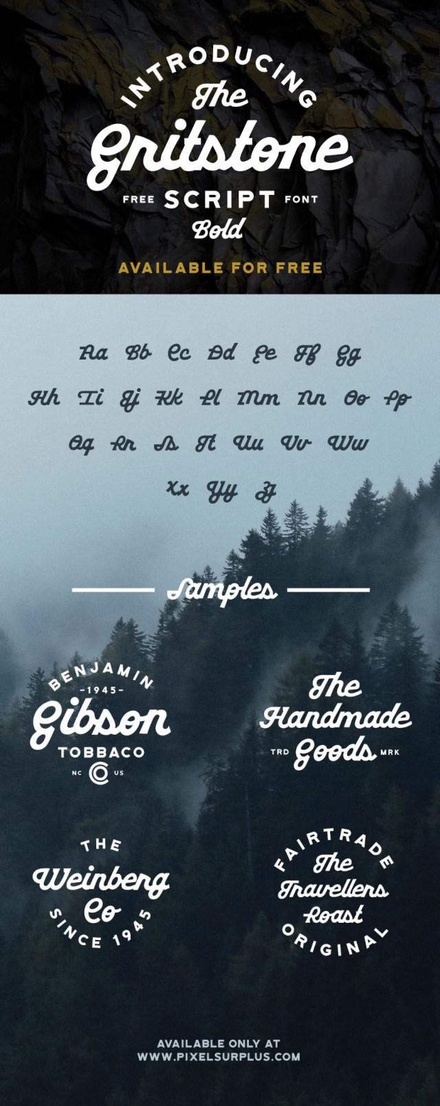 Gritstone Script Free Typeface
