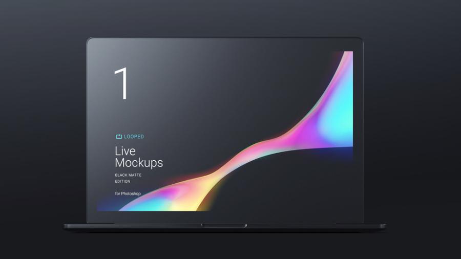 8 Free Black Matte Devices Mockups
