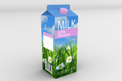 Free PSD Milk Box Mockup