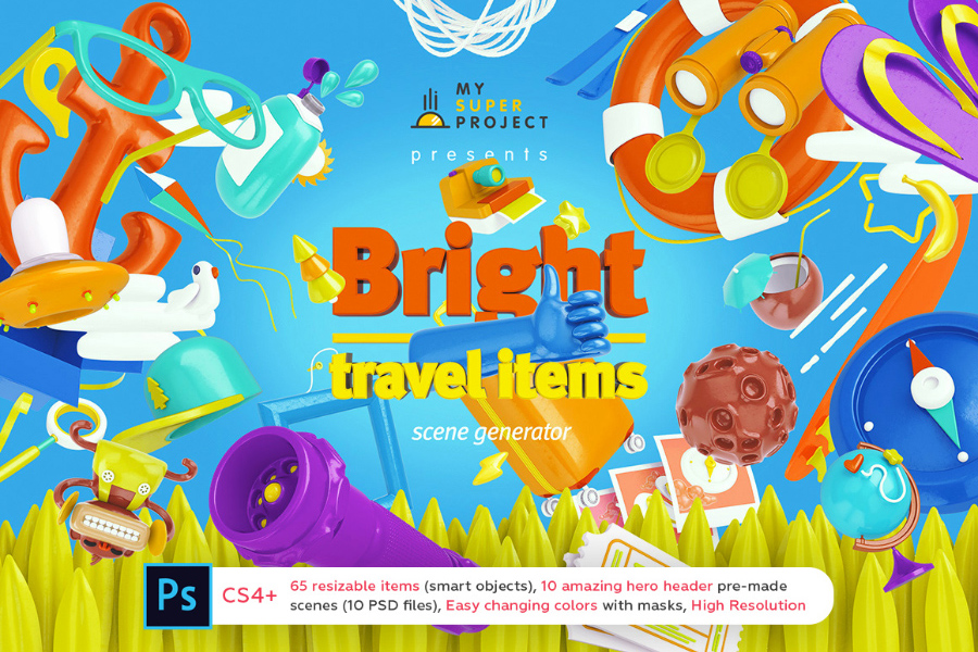 Bright Travel Scene Generator Demo