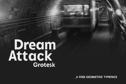 Dream Attack Free Grotesk Font