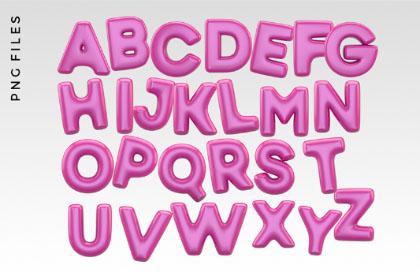 Free 3D Balloon Typeface