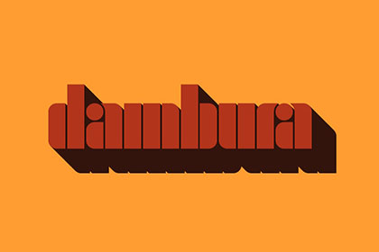 Dambura Stencil Free Typeface