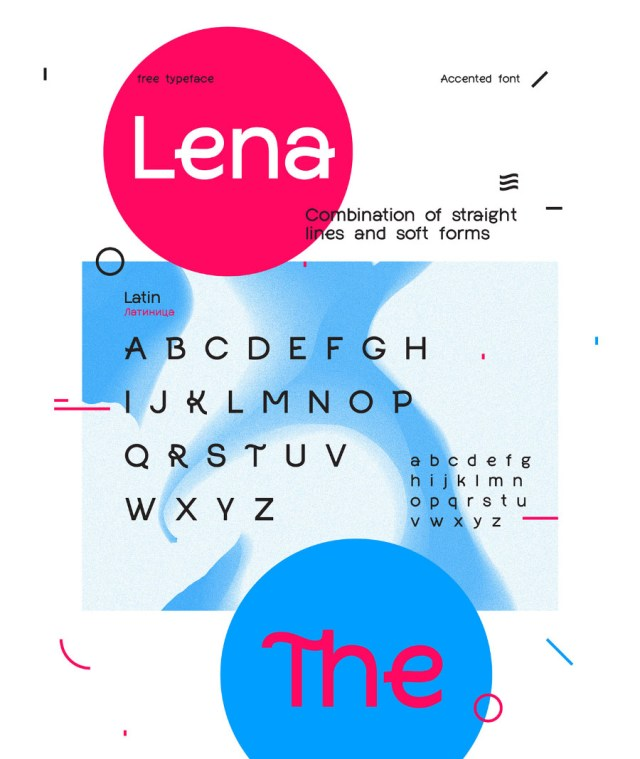 Lena Free Display Typeface